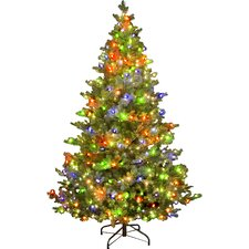 Snowtime 6.6' Green Pre-Lit Alaskan Spruce Artificial Christmas Tree with 350 Color Lights
