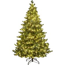 Snowtime 6.6' Green Pre-Lit Alaskan Spruce Artificial Christmas Tree with 350 Clear Lights