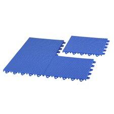 EZ-Floor Interlocking Plastic Tile Flooring (Set of 12)