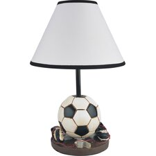"""Youth Soccer 15.75"""" H Table Lamp with Empire Shade"""