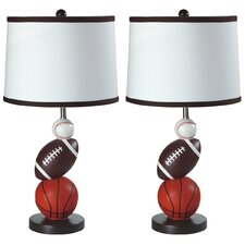 """Resin Youth Sports 24"""" Table Lamp (Set of 2)"""
