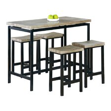 Emily 5 Piece Pub Table Set