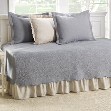 Trellis 5 Piece Daybed Cover Set in Grey