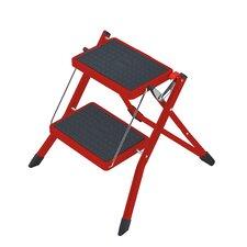 2-Step Steel Mini Step Stool with 330 Ib. Load Capacity