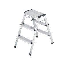 L90 3-Step Aluminum Step Stool with 330 lb. Load Capacity