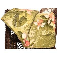 Tommy Bahama Tropical Orchid Cotton Quilted Throw