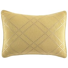 Daintree Tropic Ochre Diamond Percale Cotton Breakfast Pillow