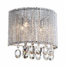 Crystalline Round 2 Light Crystal Wall Sconce