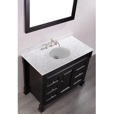 """Contemporary 43"""" Single Bathroom Vanity Set with Mirror"""