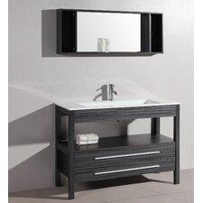 "48"" Single Contemporary Vanity Set with Mirror"