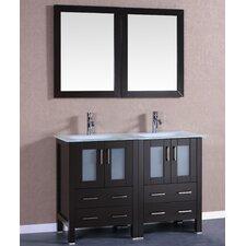 """48"""" Double Vanity Set with Mirror"""