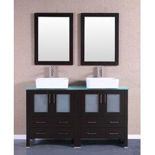 """60"""" Double Vanity Set with Mirror"""