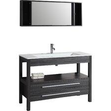"""Contemporary 48"""" Single Bathroom Vanity Set with Mirror"""