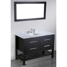 """Contemporary 47"""" Single Bathroom Vanity Set with Mirror"""