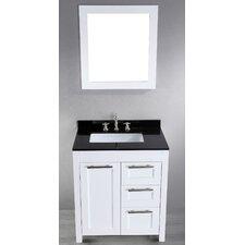 """Contemporary 30"""" Single Bathroom Vanity Set with Mirror"""