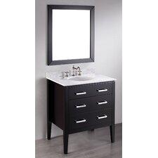 """Contemporary 31"""" Single Bathroom Vanity Set with Mirror"""