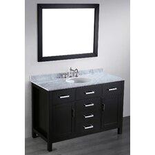 """Contemporary 49"""" Single Bathroom Vanity Set with Mirror"""
