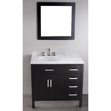 """Contemporary 36"""" Single Bathroom Vanity Set with Mirror"""