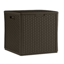 Resin Wicker Cube Storage Box