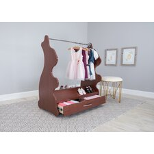 Rabbit Mobile Dress Up Clothes and Shoe Organizer Armoire