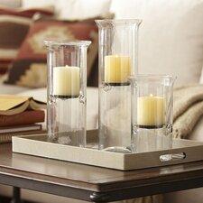 3-Piece Cylinder Candleholder Set