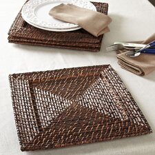 Square Rattan Chargers (Set of 4)