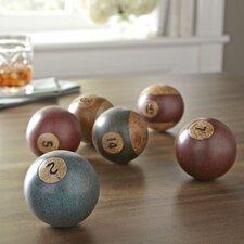 Antiqued Billiard Balls (Set of 6)