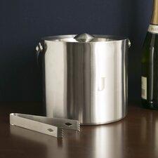 Monogrammed Stainless Steel Ice Bucket