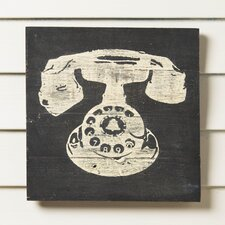 Rotary Phone Reclaimed Wood Wall Art