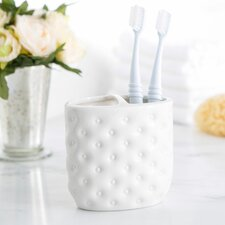 Embossed Porcelain Toothbrush Holder