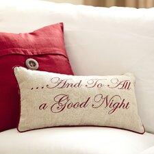 Nighttime Embroidered Lumbar Pillow