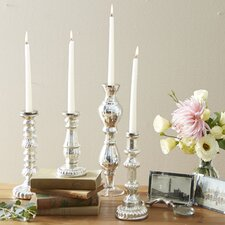Mercury Glass Candlestick Holder