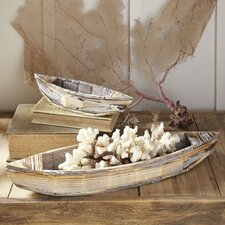 Maritime Wooden Boats (Set of 2)