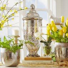 Mercury Glass Decorative Jar
