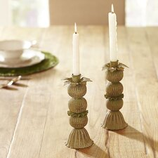Hydrangea Candlestick Holders (Set of 2)