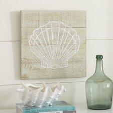Seascape Seashell Wood Wall Art