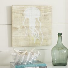 Seascape Jellyfish Wood Wall Art