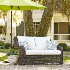Rosemead Wicker Loveseat with Sunbrella® Cushions
