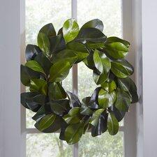 Faux Magnolia Leaf Wreath