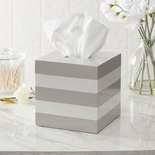Imogen Striped Lacquer Tissue Box