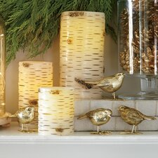 Gold Resin Bird Decor (Set of 4)