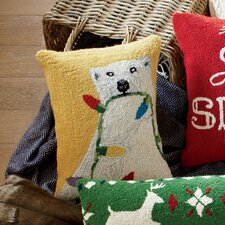 Northern Lights Hooked Pillow