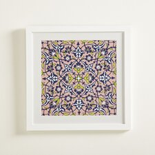 Floral Mosaic Framed Painting Print