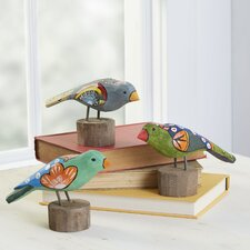 3 Piece Fiesta Bird Decor Set
