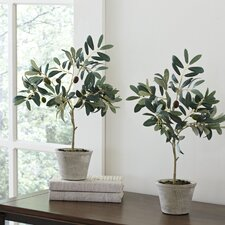 Faux Olive Trees (Set of 2)