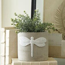 Dragonfly Cement Planters (Set of 2)