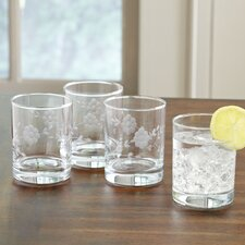 Floral Glassware Highball Glass
