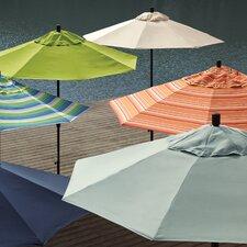 9' Aluminum Market Umbrella Push Tilt - Bronze/Sunbrella/Dolce Oasis