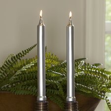 Silver Tapered Candlesticks (Set of 12)