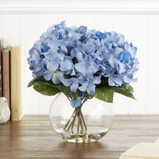 Faux Blue Hydrangea Bloom